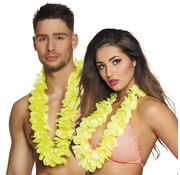 Neon geel hawaii krans