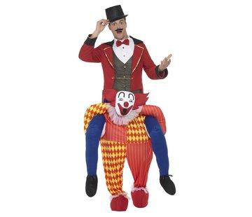 Gedragen door clown kostuum