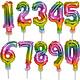 Regenboog taart decoratie ballon cijfer 2