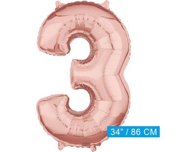 Helium cijfer ballon 3