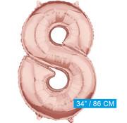 Helium cijfer ballon 8
