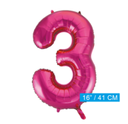Cijfer ballon roze  3