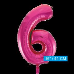 Cijfer ballon roze 6