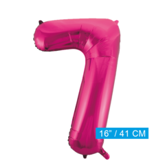 Cijfer ballon roze 7