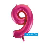 Cijfer ballon roze 9