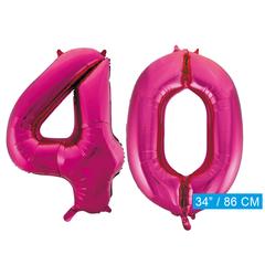 Roze cijfer ballonnen 40