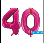 Cijfer ballonnen roze 40