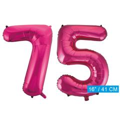 Cijfer ballonnen roze 75