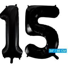 Zwarte cijfer 15