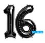 Zwarte folie cijfers 16