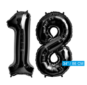 folie zwarte cijfers 18