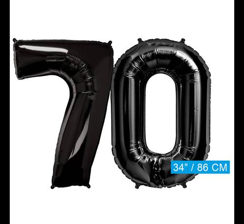 folie zwarte cijfers 70