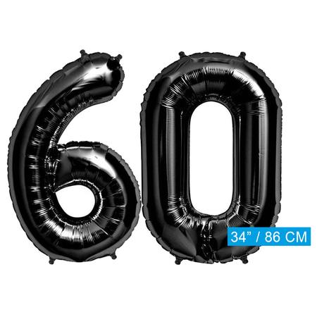Folie zwarte cijfers 60