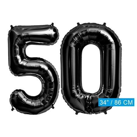 Folie zwarte cijfers 50