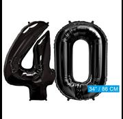 onjuiste code Zwarte folie ballonnen cijfers