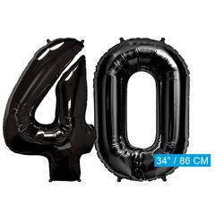 Zwarte folie ballonnen cijfers