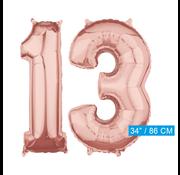 Helium Cijfer ballonnen 13