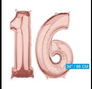 Helium Cijfer ballonnen  16