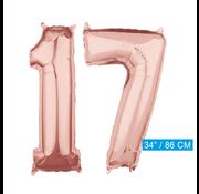 Helium cijfer ballonnen 17