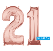 Rosé goud cijfer 21