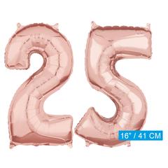 Rosé goud cijfer 25