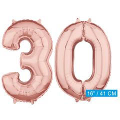 Rosé goud cijfer 30