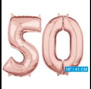 Rosé goud cijfer 50