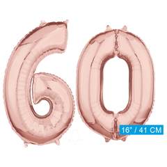 Rosé goud cijfer 60