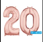 Helium cijfer ballonnen 20