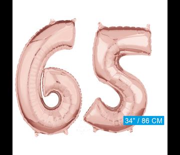 Helium cijfer ballonnen 65