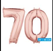 Helium cijfer ballonnen 70