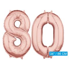 Helium cijfer ballonnen 80