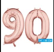 onjuiste code Helium cijfer ballonnen 90