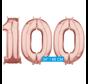 Helium cijfer ballonnen 100  rosé goud