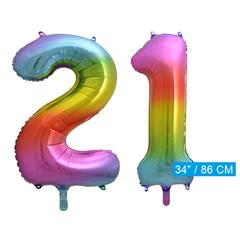 Cijfer ballon 21
