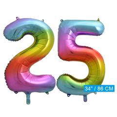 Cijfer ballon 25