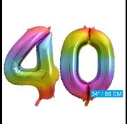 Cijfer ballon 40