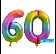 Cijfer ballon 60