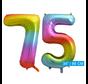 Regenboog cijfer ballon 75