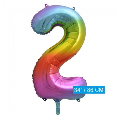 Regenboog Cijfer Ballon 2