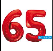 onjuiste code Rode cijfer ballonnen 65