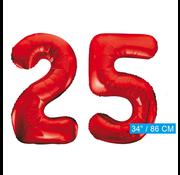 Rode cijfer ballonnen 25