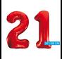 Rode cijfer ballonnen 21