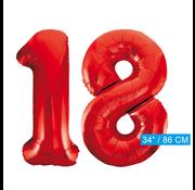 Rode cijfer ballonnen 18