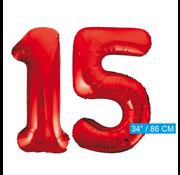 Rode cijfer ballonnen 15