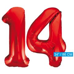 Rode cijfer ballonnen 14