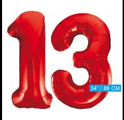 Rode cijfer ballonnen 13