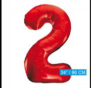 Rode cijfer ballon 2