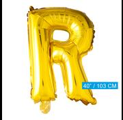 Gouden letters ballon R