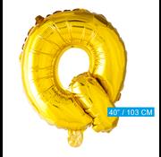 Gouden letters ballon Q
